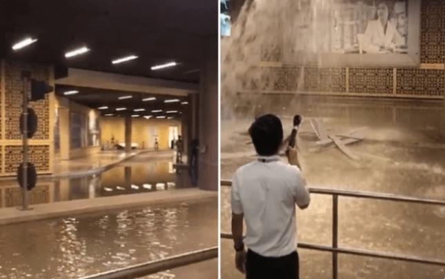 Dünyanın ən böyük ticarət mərkəzini su basdı