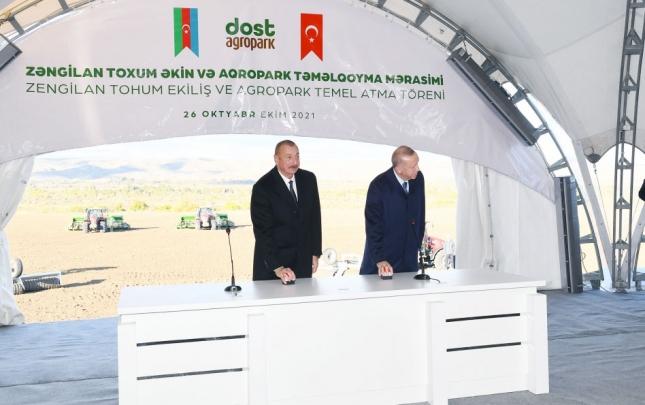 """""""Dost Aqropark""""ın təməlqoyma mərasimindən"""