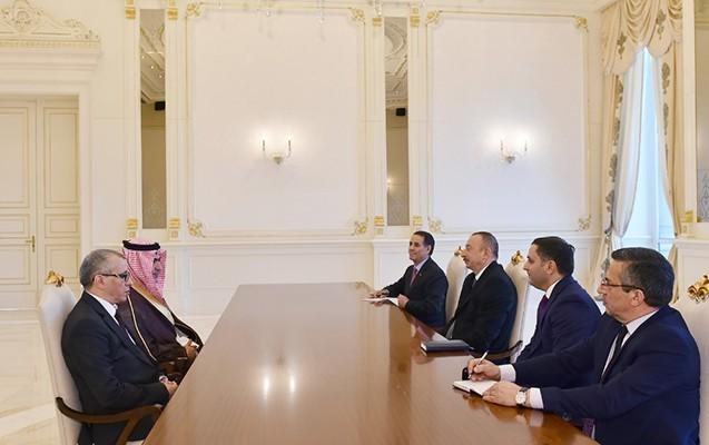 Prezident ərəb dövlət nazirini qəbul etdi