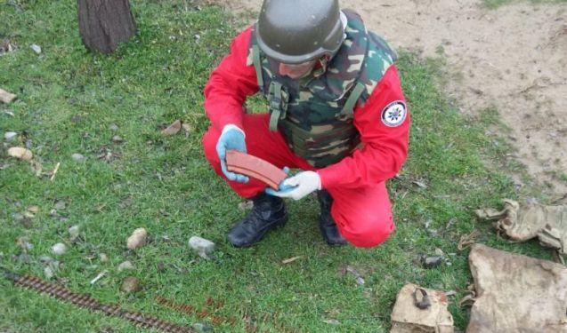 Şəmkirdə hərbi sursat tapılıb