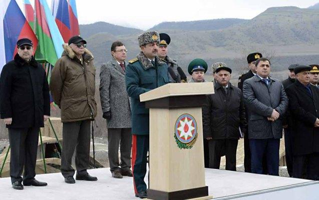 Azərbaycan-Rusiya sərhədində ilk sərhəd nişanı quraşdırıldı