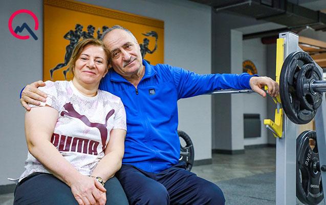 35 illik evli cütlüyün fitness sevgisi...