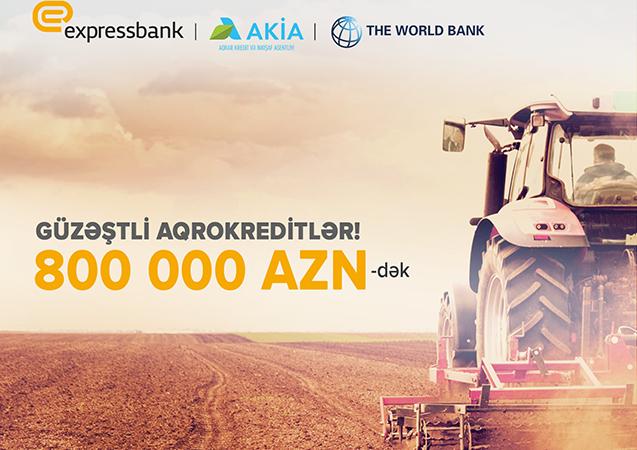 Expressbank güzəştli aqrar kredit imkanlarını artırdı