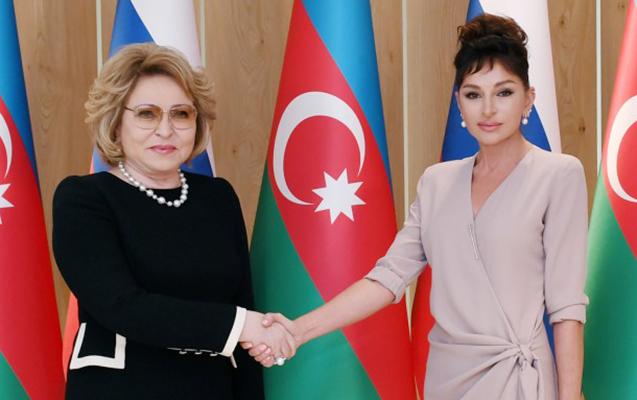 Mehriban Əliyeva Matviyenko ilə görüşdü