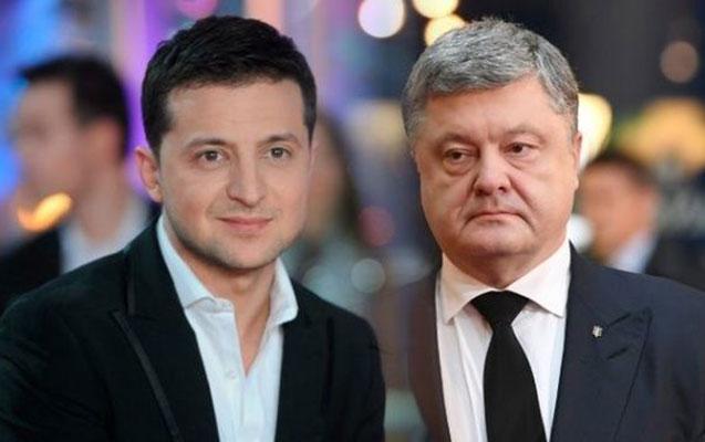 Zelenski Poroşenko ilə debata getmədi