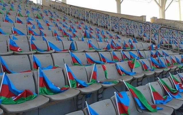 """""""Qarabağ"""" - APOEL matçında 30 min bayraq!"""