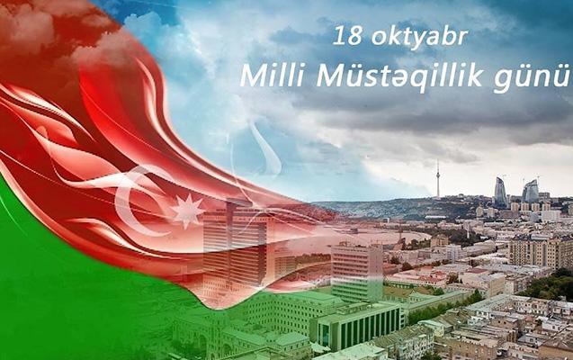 Azərbaycanın Dövlət Müstəqilliyi Günüdür