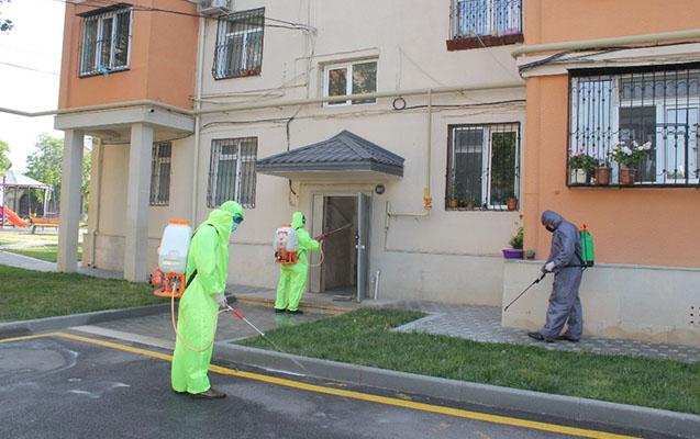 Nizami rayonunda dezinfeksiya işləri davam etdirilir