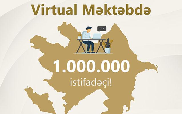 """""""Virtual məktəb""""ə qoşulanların sayı 1 milyon oldu"""