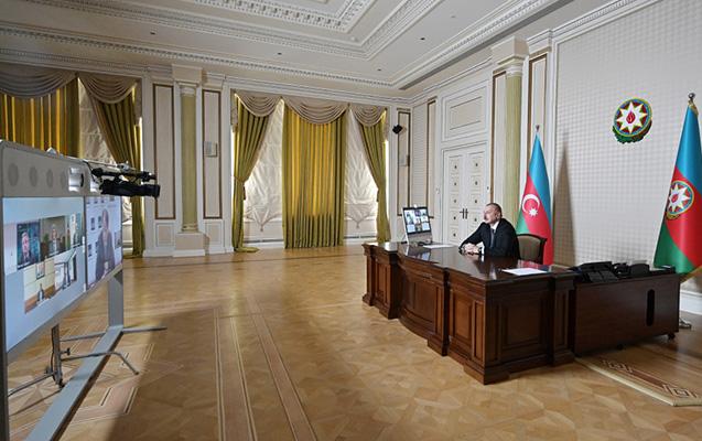 Prezident videokonfransa qatıldı