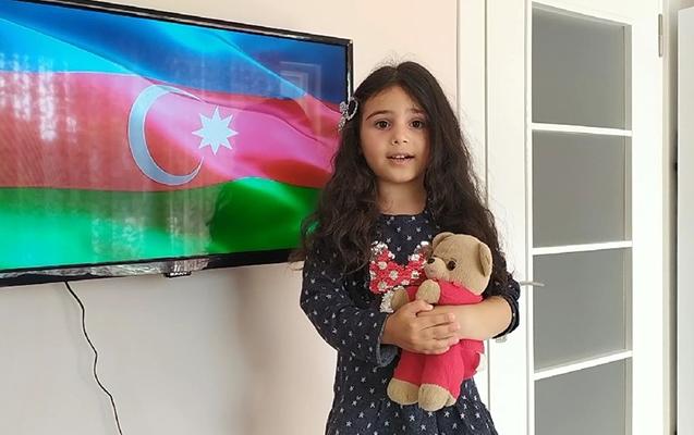 Azərbaycanı 9 ölkə arasında 5 yaşlı qız təmsil etdi