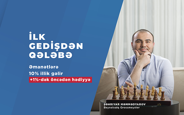 """Şəhriyar Məmmədyarov """"AccessBank""""ın depozit kampaniyasının simasıdır"""