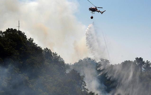 Qəbələdəki yanğına görə 2 helikopter qaldırıldı