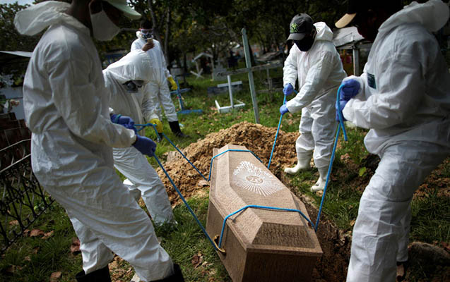 Braziliyada son sutkada koronavirusdan mindən çox adam öldü
