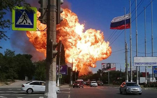 Rusiyada yanacaqdoldurma məntəqəsində partlayış