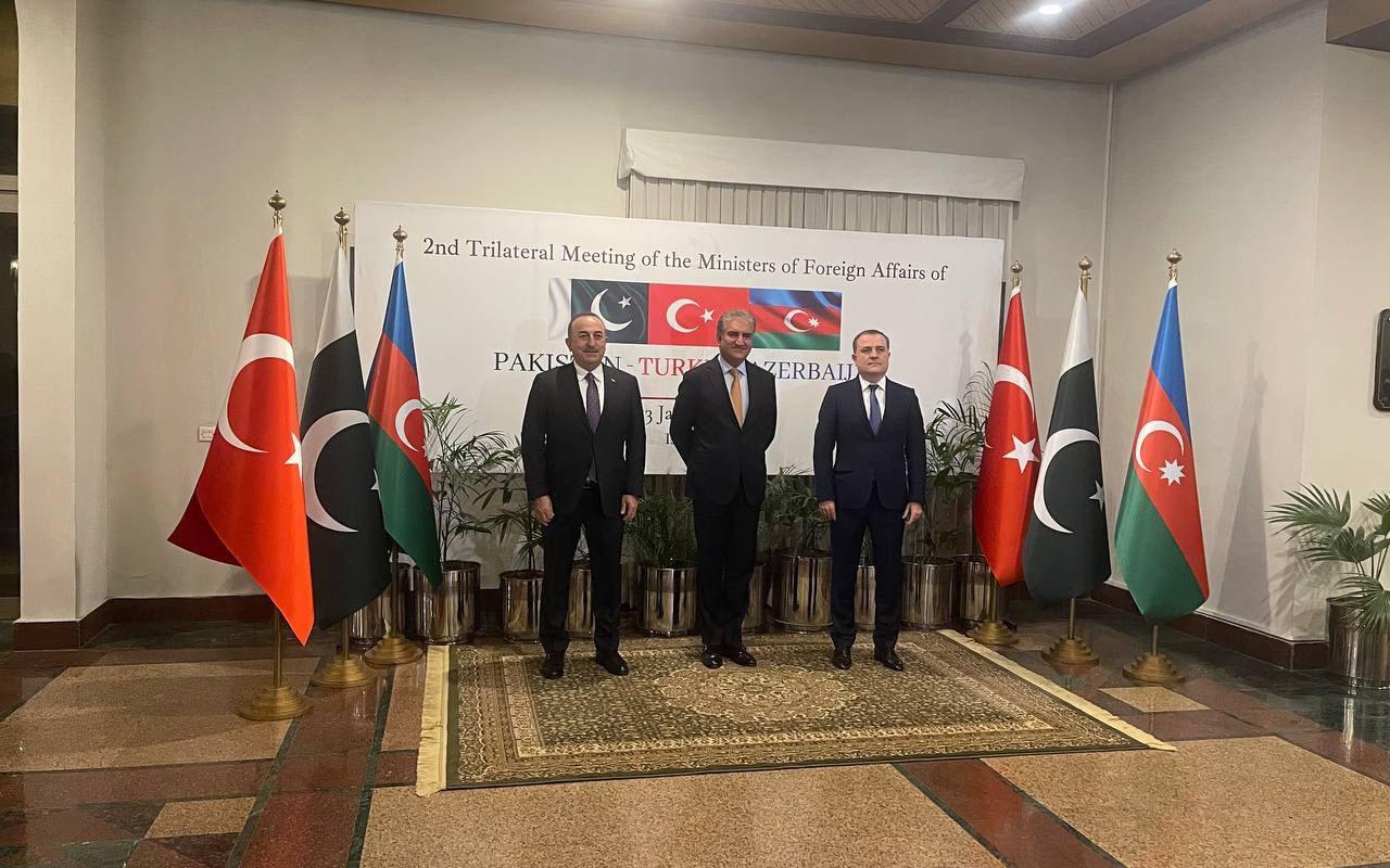 Azərbaycan, Pakistan və Türkiyə XİN başçıları bəyannamə imzaladı