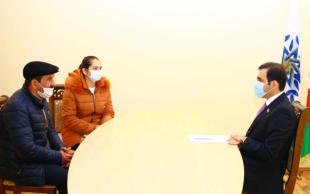 Deputat Goranboyda fərdi vətəndaş qəbulu keçirib