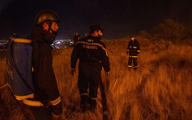 Ermənistan FHN-in işçiləri minaya düşdü