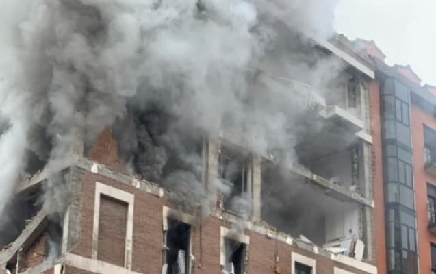 Madridin mərkəzində güclü partlayış, ölənlər var