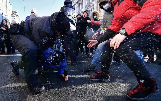 Moskvada keçirilən aksiyalarda 10-dan çox insan xəsarət alıb