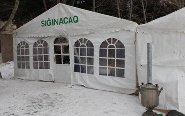 İsinməyə ehtiyacı olanlar üçün çadırlar quraşdırılır