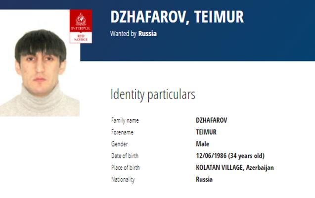 Rusiya 34 yaşlı azərbaycanlını beynəlxalq axtarışa verdi