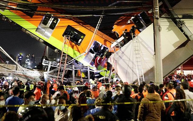 Meksikada metro körpüsünün çökməsi nəticəsində ölənlərin sayı artdı