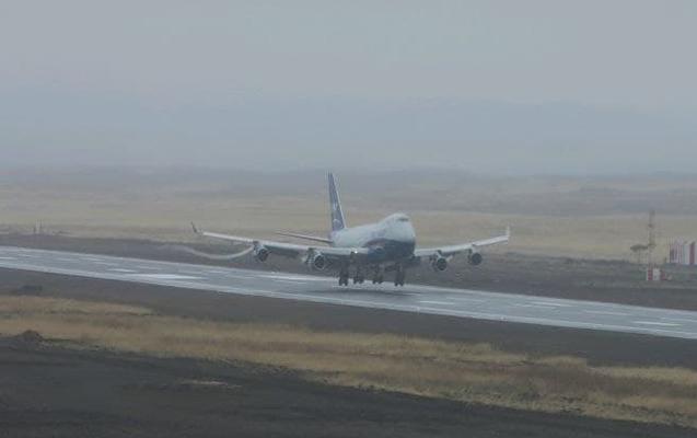 Füzuli aeroportuna ilk yük təyyarəsi endi
