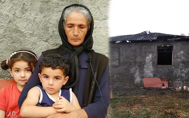 Oğlu minaya düşən ananın yanan evi niyə təmir olunmur?