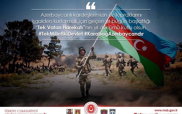 Türkiyə Milli Müdafiə Nazirliyindən Anım Günü paylaşımı