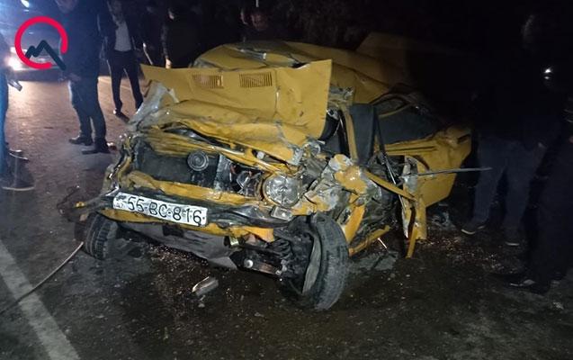Bərdədə yol qəzasında bir ailənin 4 üzvü yaralandı