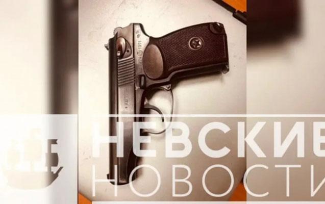 Peterburqda silahla gəzən azərbaycanlı saxlanıldı